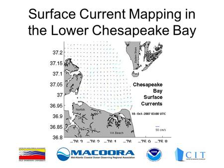Surface Current Mapping in the Lower Chesapeake Bay.