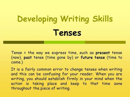 narrative essay in present tense