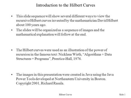 hilbert curve program in c