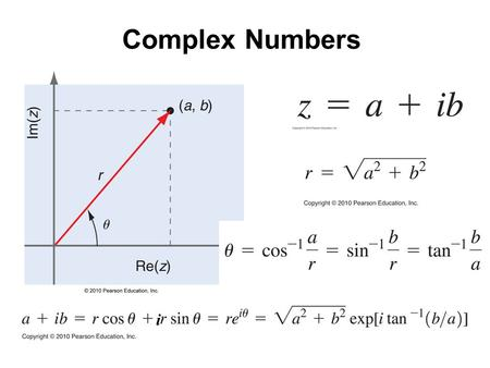 AppxA_01fig_PChem.jpg Complex Numbers i. AppxA_02fig_PChem.jpg Complex Conjugate * - z* =(a, -b)