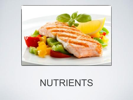 NUTRIENTS. CALORIES The amount of energy in food is measured in calories You measure this energy by seeing how much the food heats up 10ml of water.