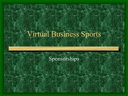 Virtual Business Sports