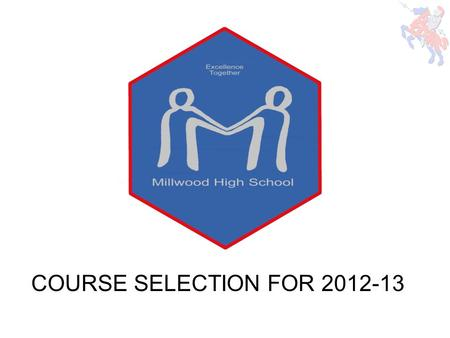 COURSE SELECTION FOR 2012-13. Agenda Overview of Course Selection Procedure Graduation Requirements New Courses Program Options Course Selection Tips-