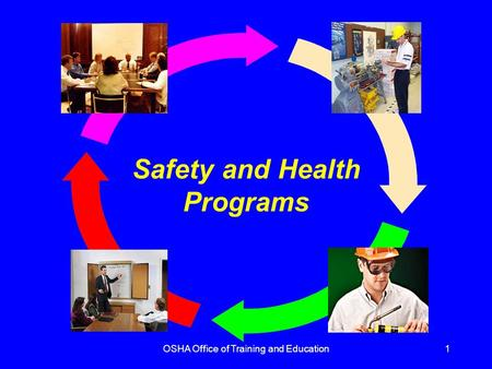 OSHA Office of Training and Education1 Safety and Health Programs.