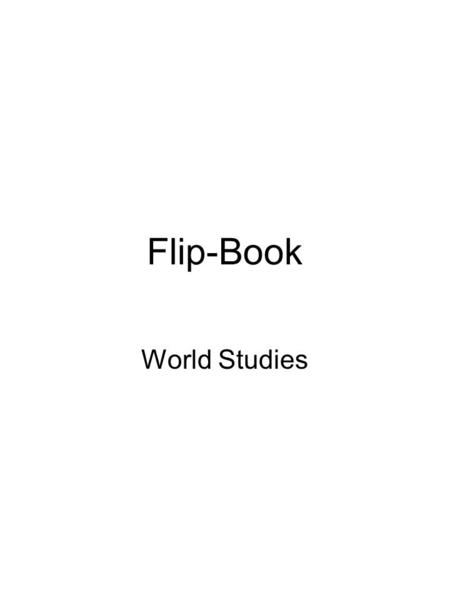Flip-Book World Studies. Bell-Ringer 12/3 What are the five characteristics of civilization?
