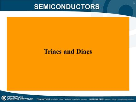 SEMICONDUCTORS Triacs and Diacs.