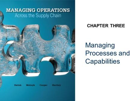 Managing Processes and Capabilities CHAPTER THREE.
