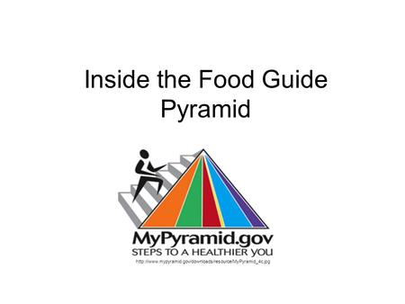 Inside the Food Guide Pyramid