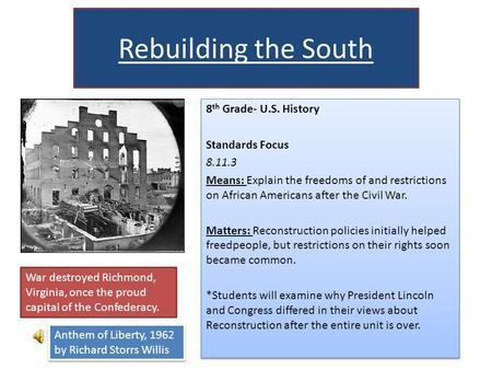 the history of the process of reconstruction of the union after the civil war
