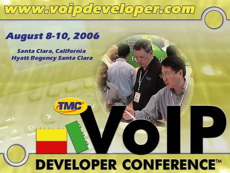 Developing Convergent Network Applications Doug Tucker, CTO, Ubiquity VOIP Developers Conference Thu 2:30p – 3:15p.