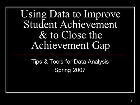 Student achievement gap essay