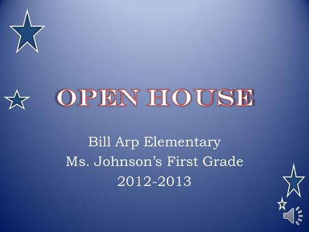 Bill Arp Elementary Ms. Johnson's First Grade 2012-2013.