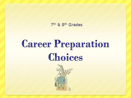 7 th & 8 th Grades. What you have done so far… You have learned about career clusters You have researched various careers You have begun to think about.