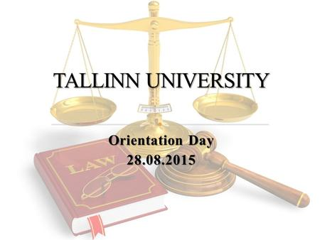 Orientation Day 28.08.2015. Study year consists of two semesters: Autumn semester Autumn semester Spring semester Spring semester One semester consists.