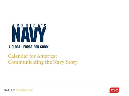 Calendar for America: Communicating the Navy Story.