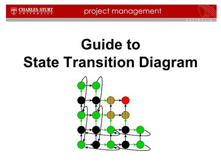 Guide to State Transition Diagram. 2 Contents  What is state transition diagram?  When is state transition diagram used?  What are state transition.