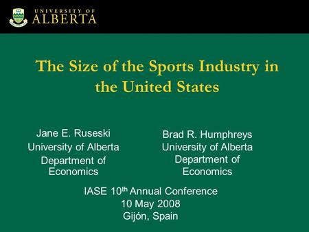The Size of the Sports Industry in the United States