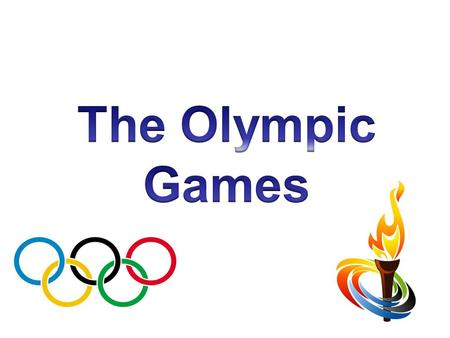 The first Olympic Games were held in Olympia in Greece in 776 BC They took place every 4 years and were held in honour of the Greek Gods. All the events.