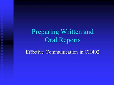 oral and written reports definition Verbal transfer of information can be performed, orally or in written form oral communication is the oldest means of communication, which is most commonly used as a medium for the exchange.
