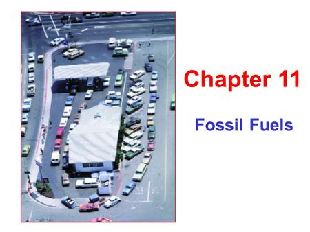 Fossil Fuels Chapter 11. Energy Consumption Per capita energy consumption.