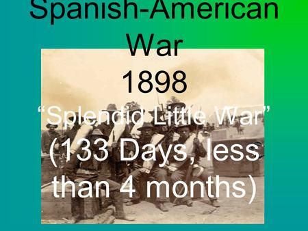spanish american war foreign policy essay