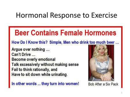 Hormonal Response to Exercise 1. The Endocrine System A communication system – Nervous system = electrical communication – Endocrine system = chemical.