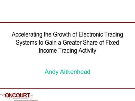 Bloomberg fixed income trading system