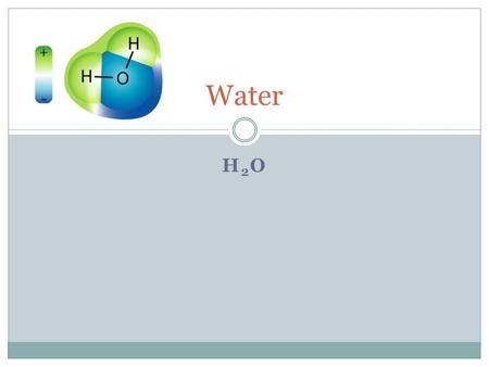 H2OH2O Water. Where is our water 97.5% of all water on Earth is saltwater or brackish water. 1.75% of all water is frozen..75% of all of the water on.