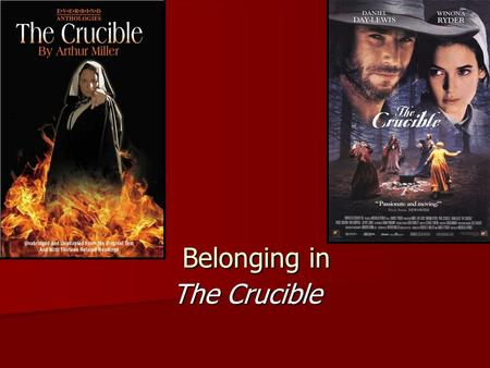 The crucible difference between movie and play essay