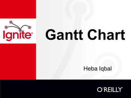 Gantt Chart Heba Iqbal. What is a Gantt chart? Developed by Henry Gantt Were considered revolutionary when first introduced Type of bar chart Illustrates.