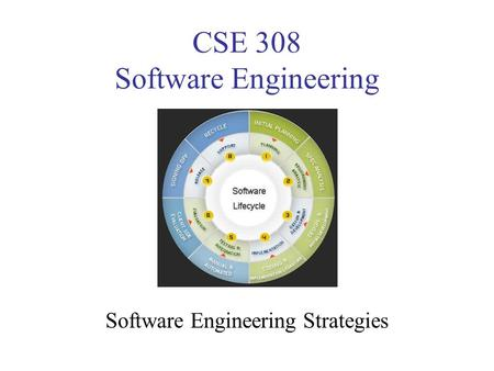 CSE 308 Software Engineering Software Engineering Strategies.