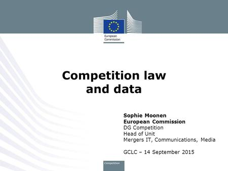 Competition law and data