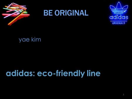 adidas: eco-friendly line