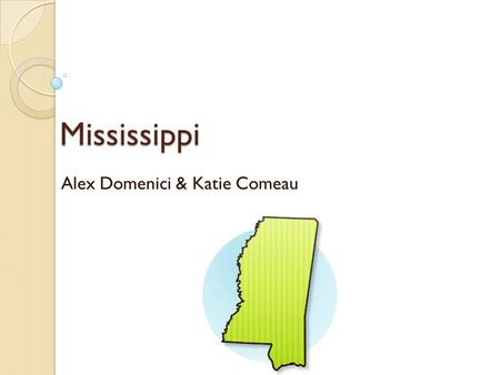 "Mississippi Alex Domenici & Katie Comeau. Opening Statement ""Forty years ago, the U.S. Supreme Court determined that children have the right to counsel,"