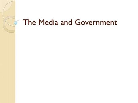 The Media and Government. Warm up Read both of today's articles covering the Iowa Caucus last night and answer the following questions pointing to specific.