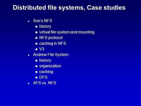 dfs case study