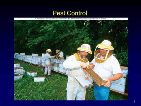 1 Pest Control. 2 Outline Pests Pesticides  Use and Types  Benefits  Problems  Alternatives  Reducing Exposure  Regulating Use Organic Farming.