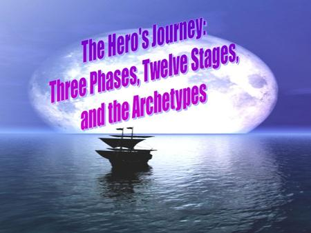 The hero's journey occurs in a cycle consisting of three phases: I. Departure: where the hero leaves his comfortable and familiar world and ventures into.