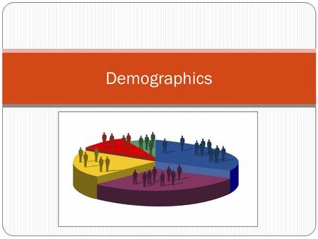 Demographics. What is it? Demography is the study of population Why do people settle in certain areas? What lead to changes in settlement patterns? What.