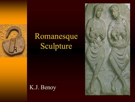 Romanesque Sculpture K.J. Benoy. Introduction  Monumental sculpture in stone did not really revive in the Carolingian and Ottonian periods.  However,