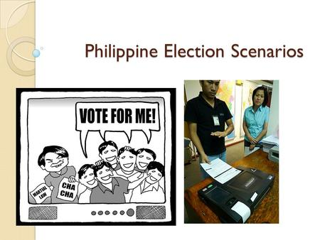 Philippine Election Scenarios