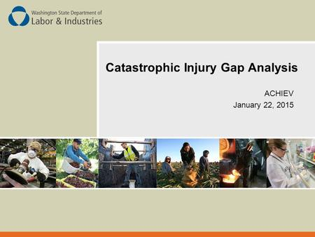 Catastrophic Injury Gap Analysis ACHIEV January 22, 2015.