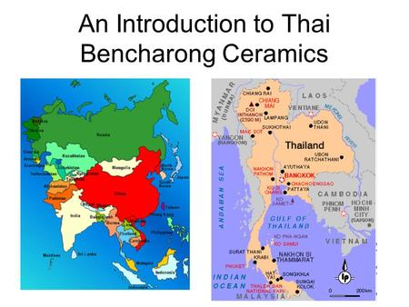 An Introduction to Thai Bencharong Ceramics. Meanings Meaning: Bencharong is from two Sanskrit words 1)panch: five, and 2)rong:color There are usually.