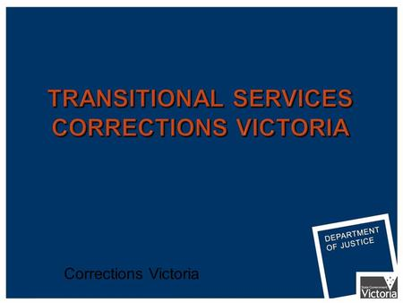 Corrections Victoria. RECEPTION RELEASE Prison-Based Case Management TAP Intensive Case Management Programs Permit Leave Program Corrections Victoria.