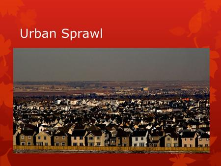 urban sprawl and motorization Read this essay on urban sprawl in india urban sprawl and motorization have led to significant environmental and social problems.