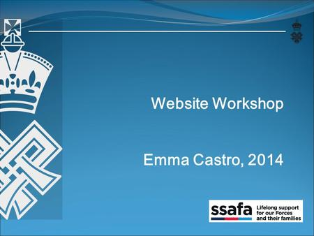 Website Workshop Emma Castro, 2014. Contents Questionnaire Results Handouts New Ideas.