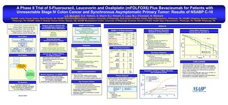 Is surgical resection of an asymptomatic primary colorectal tumor beneficial for patients with incurable Stage IV disease? A Phase II Trial of 5-Fluorouracil,