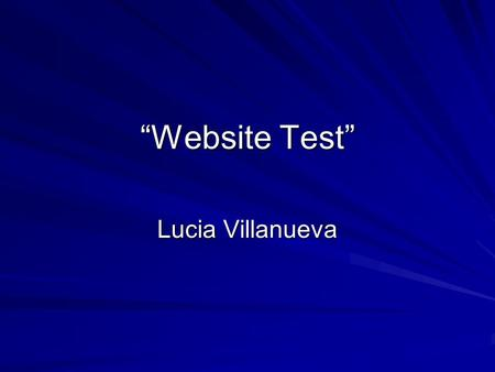 """Website Test"" Lucia Villanueva. ""My Website"" ""Animated Clipart"""