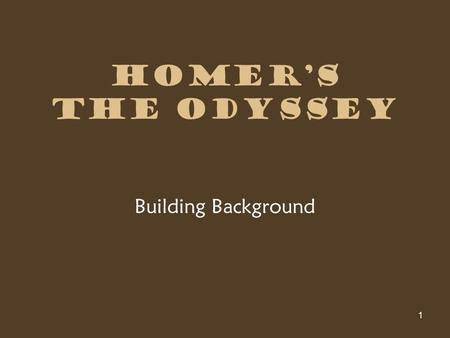 quiz odyssey background Free flashcards to help memorize facts about wshs - english 9 - 1st - odyssey background - long/tedder other activities to help include hangman, crossword, word.
