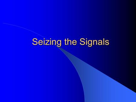 Seizing the Signals. CSCE 727 - Farkas2 Reading List This class – Carr, Chs. 3, 4 – Introduction to TEMPEST, The Complete and unofficial TEMPEST Information.